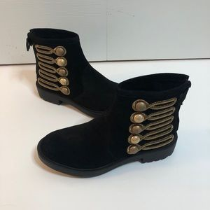 Linea Paolo Suede Tanzi Bootie 7.5 New Without Box
